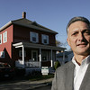Salem:<br /> Scott Garabedian stands in front of his home at 3 Lincoln Road which recently sold.<br /> Photo by Ken Yuszkus/The Salem News, Friday, November 9, 2012.
