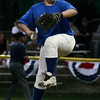Salem: Danvers pitcher Erik Powers took over from Mike Cravatis in the fourth inning of the Gallant Memorial Tournament final agianst Swampscott. Photo by Mary Catherine Adams/Salem News.