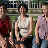 Eriko Houlette, considered a star student by the state board of higher education, sits between her daughters, Jeweliann, left, and Christine. Photo by Mary Catherine Adams/Salem News.<br /> , Eriko Houlette, considered a star student by the state board of higher education, sits between her daughters, Jeweliann, left, and Christine. Photo by Mary Catherine Adams/Salem News.