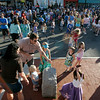 Danvers: Young girls in poodle skirts and boys with beach balls danced in Danvers Square during Oldies Night at the Danvers Family Festival on Wednesday. Photo by Mary Catherine Adams/Salem News.