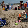 Emma Silvia, 5, plays in the sand at Dane Street Beach Tuesday. Photo by Mary Catherine Adams/Salem News<br /> , Emma Silvia, 5, plays in the sand at Dane Street Beach Tuesday. Photo by Mary Catherine Adams/Salem News