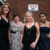 Beverly: Amy Drinan, left, Lori DiCicco, Wendi Mercado and Margi Navarro, jewelry advisors for Lia Sophia jewelry, stand outside the Franco American Club in Beverly before the start of the fashion show. Part of the proceeds from the fashion show will benefit the Hospice of the North Shore. Photo by Mary Catherine Adams/Salem News.<br /> end to Web, Beverly: Amy Drinan, left, Lori DiCicco, Wendi Mercado and Margi Navarro, jewelry advisors for Lia Sophia jewelry, stand outside the Franco American Club in Beverly before the start of the fashion show. Part of the proceeds from the fashion show will benefit the Hospice of the North Shore. Photo by Mary Catherine Adams/Salem News.<br /> end to Web