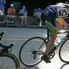 Cody Harris rounds a corner near the Hawthorne Hotel during the women's race in Salem's Witches Cup bicycle race. Harris finished in ninth place. Photo by Mary Catherine Adams/Salem News.