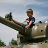 Jack Dixon, 5, plays on a tank at Patton Park in Hamilton on Thursday afternoon. Photo by Mary Catherine Adams/Salem News.<br /> , Jack Dixon, 5, plays on a tank at Patton Park in Hamilton on Thursday afternoon. Photo by Mary Catherine Adams/Salem News.