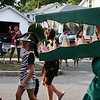 Danvers: Joshua Allen, 9, part of the Lawrence Street float, won third place in the best costume category for his alligator apparel. Photo by Mary Catherine Adams/Salem News. <br /> , Danvers: Joshua Allen, 9, part of the Lawrence Street float, won third place in the best costume category for his alligator apparel. Photo by Mary Catherine Adams/Salem News.
