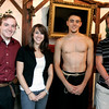 Salem: Michael Angelli, left, Chloe Gianatasio, Matt Turmenne, and Dominic Barceleau stand in the foyer of the Griffen Theatre in Salem. Of the three one-act plays performed on Friday night, Angelli was director of one of the plays and was an actor in the other two. Photo by Mary Catherine Adams/Salem News.