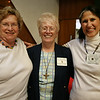 Dottie Levesque, left, Sister Leonore and Ingrid Miles at the Ipswich Rotary club's annual lunch for senior citizens. Photo by Mary Catherine Adams/Salem News.