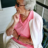 Beverly: Frances Landolfi, 90, remembers when she used to walk by Girdler House in the 1940s when she and her husband were courting. Photo by Mary Catherine Adams/Salem News.<br /> , Beverly: Frances Landolfi, 90, remembers when she used to walk by Girdler House in the 1940s when she and her husband were courting. Photo by Mary Catherine Adams/Salem News.