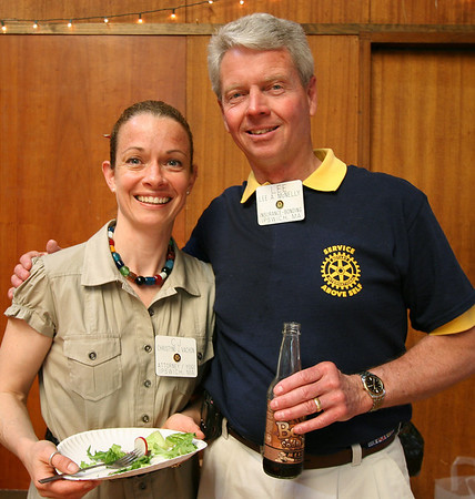 Christyne Vachon, left, and Lee McNelly at the annual Ipswich Rotary club lunch for senior citizens. Photo by Mary Catherine Adams/Salem News.