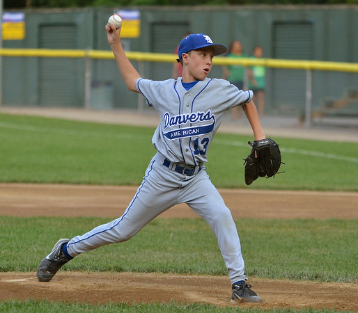 Danvers American Williamsport Team 2012<br /> Danvers vs Gloucester Championship game.<br /> Winning pitcher #13 Casey Bussone