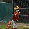 Danvers American Williamsport catcher Timmy Usalis<br /> Tracking a foul ball