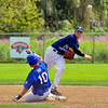 Peabody Babe Ruth 15s All Stars 2012<br /> 2nd baseman #7 Johnny Barrett turns a Double play