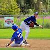 Peabody Babe Ruth 15s All Stars 2012<br /> 2nd baseman #7 Johnny Barrett turns a Double play