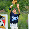 Peabody Babe Ruth 15s All Stars  2012<br /> CF Jonathan Oliveira tracks a fly ball vs Plymouth
