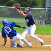 Peabody Babe Ruth 15s All Stars 2012<br /> #11  Tanner Moquin picks off runner at 2nd base