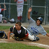 Danvers American Williamsport 2012<br /> Joe Nicolo Slides safely into home plate.<br /> Danvers American vs Gloucester
