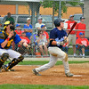 Pabody Babe Ruth 15s All Stars 2012<br /> #12 Jack Leonard watches the flight of his grand slam <br /> against Plymouth during championship game