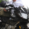 Beverly:<br /> Bob Burlison of the Kiwanis Club of La Canada Flintridge, Calif., visited the regular meeting of the Kiwanis Club of Beverly as part of his cross-country motorcycle trip to raise awareness and money to eliminate maternal neonatal tetanus in developing countries.<br /> Photo by Ken Yuszkus / Salem News, Tuesday, July 9, 2013.