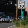 Salem:<br /> One of the speed limit sign on Loring Avenue<br /> Photo by Ken Yuszkus / Salem News, Monday, July 15, 2013.
