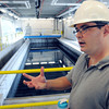 Middleton:<br /> Plant manager Jason McCarthy speaks near the new granular activated carbon filter in the new filtration building at the Danvers water treatment plant.<br /> Photo by Ken Yuszkus / Salem News, Thursday, July 11, 2013.