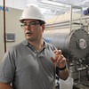 Middleton:<br /> Plant manager Jason McCarthy stands near the ozone generators while explaining the process in the new ozone building at the Danvers water treatment plant.<br /> Photo by Ken Yuszkus / Salem News, Thursday, July 11, 2013.