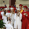 David Le/Salem News. Masco High School's senior class gives fellow classmate, Vincent Liberto a standing ovation after a speech during their graduation ceremonies on Friday evening. 6/3/11.
