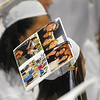 Peabody: Molly Shanahan decorated her graduation cap with pictures of her family and friends. photo by Mark Teiwes / Salem News