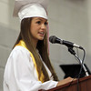 David Le/Salem News. Masco senior Molly Church speaks to her classmates during their graduation ceremonies on Friday evening. 6/3/11.