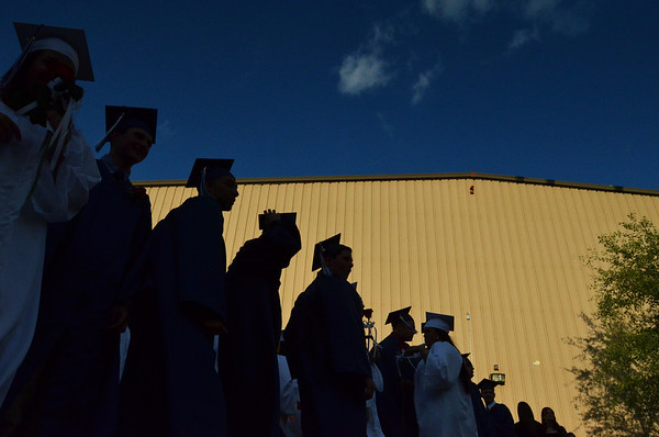 Middleton: North Shore Technical High School graduates process to their commencement ceremony.  photo by Mark Teiwes / Salem News