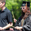 Beverly: Beverly High School graduate Dani Zessoules plays the xylophone with the BHS Band one final time at Graduation on Sunday afternoon. David Le/Salem News