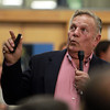 Hamilton: Bill Dery, of Hamilton, makes a few points against the proposal to buy the Pirie Property at a special Town Meeting on Tuesday evening. Hundreds of people crammed into the cafeteria and gymnasium at the Winthrop School for a special town meeting to address the controversial proposal to buy Pirie Property. David Le/Salem News