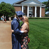 Wenham:<br /> Hamilton-Wenham grad Dennis Kane and Meghan Brennan kiss just before the processional into Gordon College chapel, which is in the background, at the Hamilton-Wenham graduation.<br /> Photo by Ken Yuszkus, Salem News, Sunday June 2, 2013.