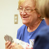Danvers: Joanne Kasenenko plays bridge at the Danvers Senior Center on. David Le/Salem News