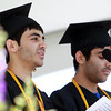Beverly: Twin brothers Idan and Adi Davidyan, present their Valedictorian and Salutatorian Addresses together during Graduation on Sunday afternoon. David Le/Salem News