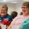 Danvers: June Berube, left, and Joan Fernandes, share a laugh during the Senior Citizen Luncheon held at the Danvers Senior Center on Tuesday afternoon. David Le/Salem News