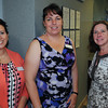 Salem:<br /> From left, Pauline Bloomer, Diane Gokas of Beverly Cooperative Bank, and Diane Ayers of North Shore Bank attend the Salem Chamber of Commerce after-hours networking event at Beverly Cooperative Bank's Salem location.<br /> Photo by Ken Yuszkus / Salem News, Wednesday, June 26, 2013.