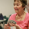 Danvers: Lucille Labate, of Danvers, plays bridge at the Danvers Senior Center on Friday afternoon. David Le/Salem News