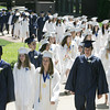 Wenham:<br /> Hamilton-Wenham grads walk during the processional into Gordon College chapel at the Hamilton-Wenham graduation on Sunday at noon.<br /> Photo by Ken Yuszkus, Salem News, Sunday June 2, 2013.