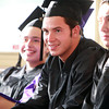 Beverly: Northshore Recovery graduate Zachary Hall smiles while listening to classmate Andrew McDonald address the Class of 2013. David Le/Salem News