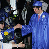 Beverly:<br /> Charles Krampf of Wenham is welcomed by his fellow graduates as he passes by during the processional at the Landmark School graduation.<br /> Photo by Ken Yuszkus/Salem News, Friday, June 7, 2013.