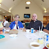 Danvers: From left, June Berube, Eileen Davis, John Mahan, and George Summers, at the Danvers Council on Aging's June Birthday Lunch on Wednesday afternoon. David Le/Salem News