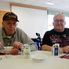 Danvers: Roger Congley and Peter Riddle at the Danvers Council on Aging's June Birthday Lunch on Wednesday afternoon. David Le/Salem News