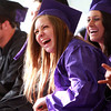 Beverly: Northshore Recovery graduate Allison Wilkins laughs during classmate Nick Jenkins' speech at Graduation on Wednesday evening. David Le/Salem News