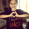 Kyleigh Lane, 7, wears her Team Angie shirt in support of Angie Miller. Courtesy photo
