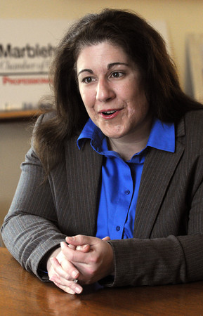 Marblehead:<br /> The new North of Boston Convention & Visitors Bureau executive director Ann Marie Casey, who is the outgoing Marblehead Chamber executive director.<br /> Photo by Ken Yuszkus/The Salem News, Friday, March 1, 2013.