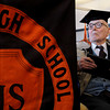 Beverly:<br /> Fred Butler, who at 106 years old received an honorary high school diploma from Beverly High School Monday morning at the school's library. <br /> Photo by Ken Yuszkus/The Salem News, Monday, March 4, 2013.