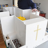 Salem:<br /> John Walker made model of the recently demolished St. Joseph Church out of Legos. This a view from the back of the church.<br /> Photo by Ken Yuszkus/The Salem News, Thursday, March 14, 2013.