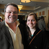Danvers:<br /> Michael Steer is with his daughter Ali Steer, a scholar from Rockport High School, who both attend the Chamber of Commerce Honors Scholar dinner, honoring the region's top graduating high school scholars, held at the Double Tree Hotel.<br /> Photo by Ken Yuszkus/Salem News, Tuesday June 14, 2013.