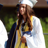 Peabody: Peabody High School graduate Catarina Rocha marches into Graduation on Friday evening. David Le/Salem News