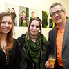 Peabody: Tiffany Walker, Desiree Ferreras, and Joseph Silva, at the ArcWorks Community Art Center's Spring Soiree on Thursday evening. David Le/Salem News